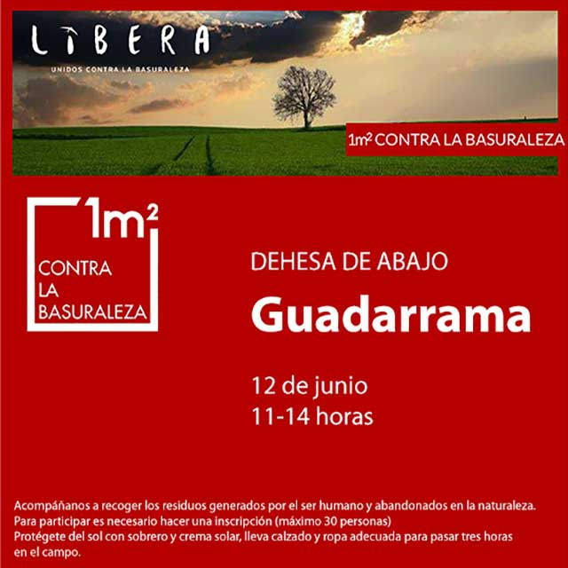 Unidos contra la basuraleza, en Guadarrama.