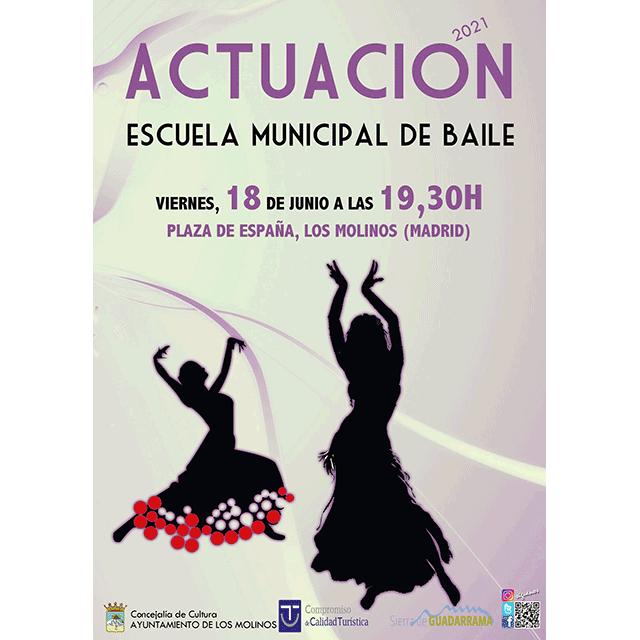 Actuación de la Escuela Municipal de Baile de Los Molinos