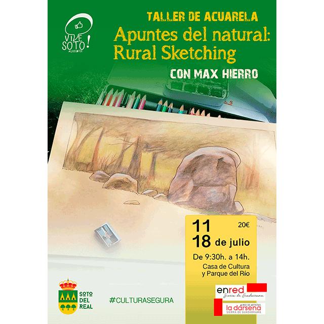 """Taller de Acuarela: """"Apuntes del natural: Rural Sketching"""", con Max Hierro."""