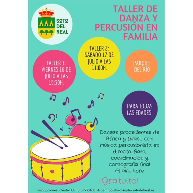 Talleres de Danza y Percusión en familia