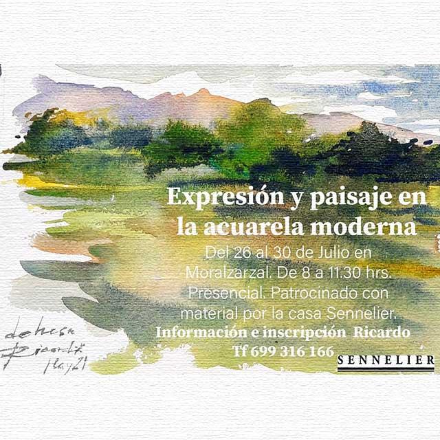 Taller: Expresión y paisaje en la acuarela moderna.