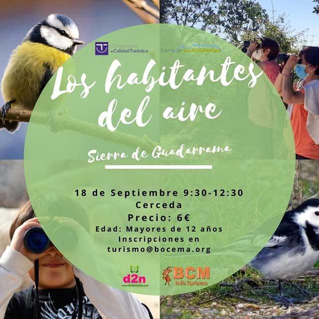 Iniciación a la ornitología: «Los habitantes del aire»