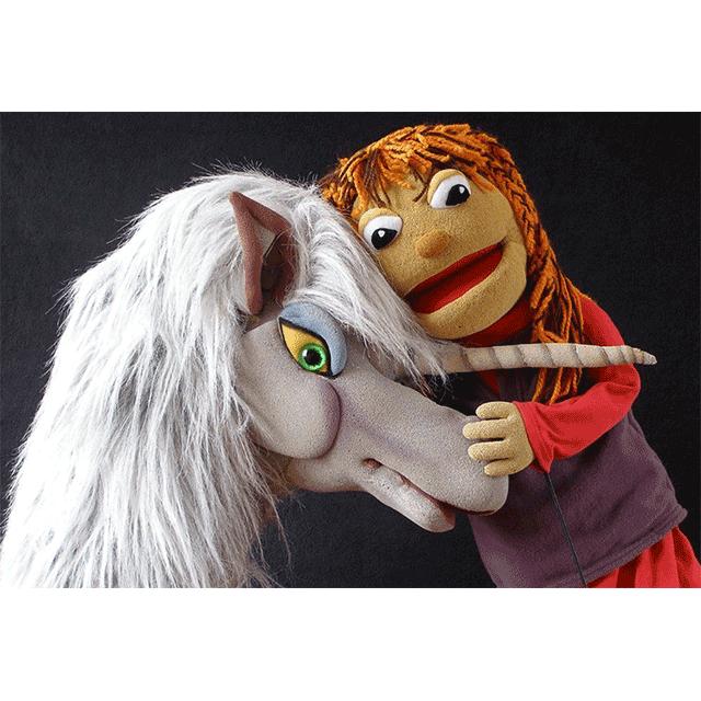 """Marimba Marionetas: """"El unicornio de la alegría"""""""